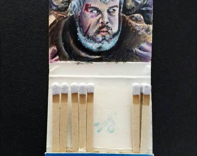 Matchbook painting - Hodor - Game of Thrones