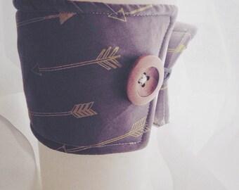 Coffee Cozy, Coffee Sleeve, Coffee Cuff, Arrow Print