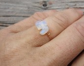 Moonstone/opalite Crystal ring- made to order