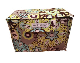 NEW Removable SMALL padded camera insert with TOP, grey floral