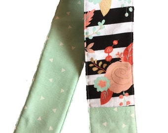 NEW! mint floral camera strap