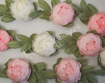Paper flowers, wedding garland,paper flower garland,peonies paper flower ,party garland, paper flower,paper flowers wedding,paper flower.