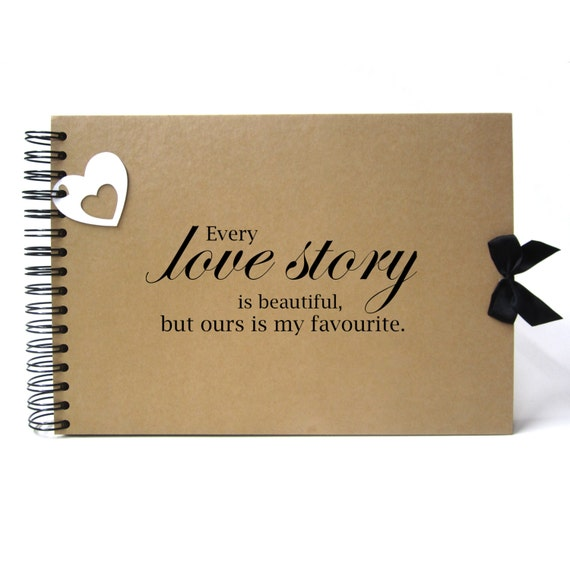 Scrapbook, A5 A4 Love Story is Beautiful but Ours is My Favourite, Card Pages, Photo Album, Keepsake, Guestbook