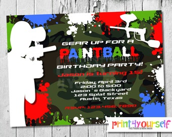 Carte Invitation Anniversaire Paintball Gratuit Nanaryuliaortega Blog