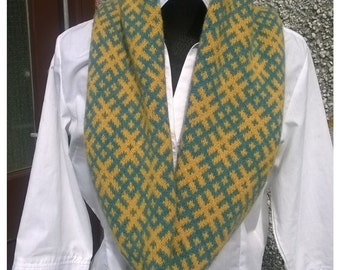 Infinity single scarf-snood,Lambswool scarf snood