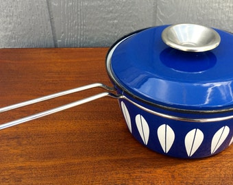 Cathrineholm  Medium Cobalt Blue Sauce Pan - Lotus Pattern