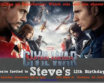 Captain America: Civil War Invitation
