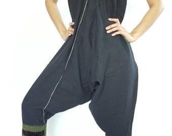 HC0213 Jumpsuit or Harem Pants Unisex Low Crotch Yoga Trousers