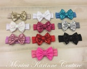 Sequin Bow Headbands
