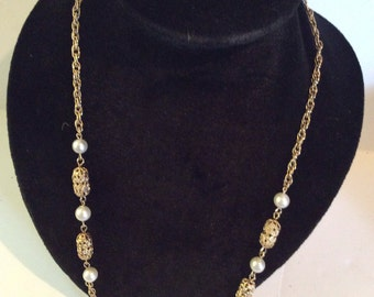 Gold toned necklace 25 in