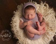 MADE TO ORDER, Crochet Lace trim Jumper/ romper, Newborn photo prop, onsie style