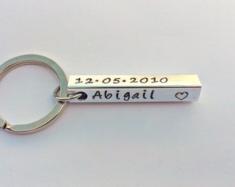 Personalised keyring - Name keyring - gift for him - birthday gift - fathers day gift - gift for dad - gifts for men - unique gift - custom