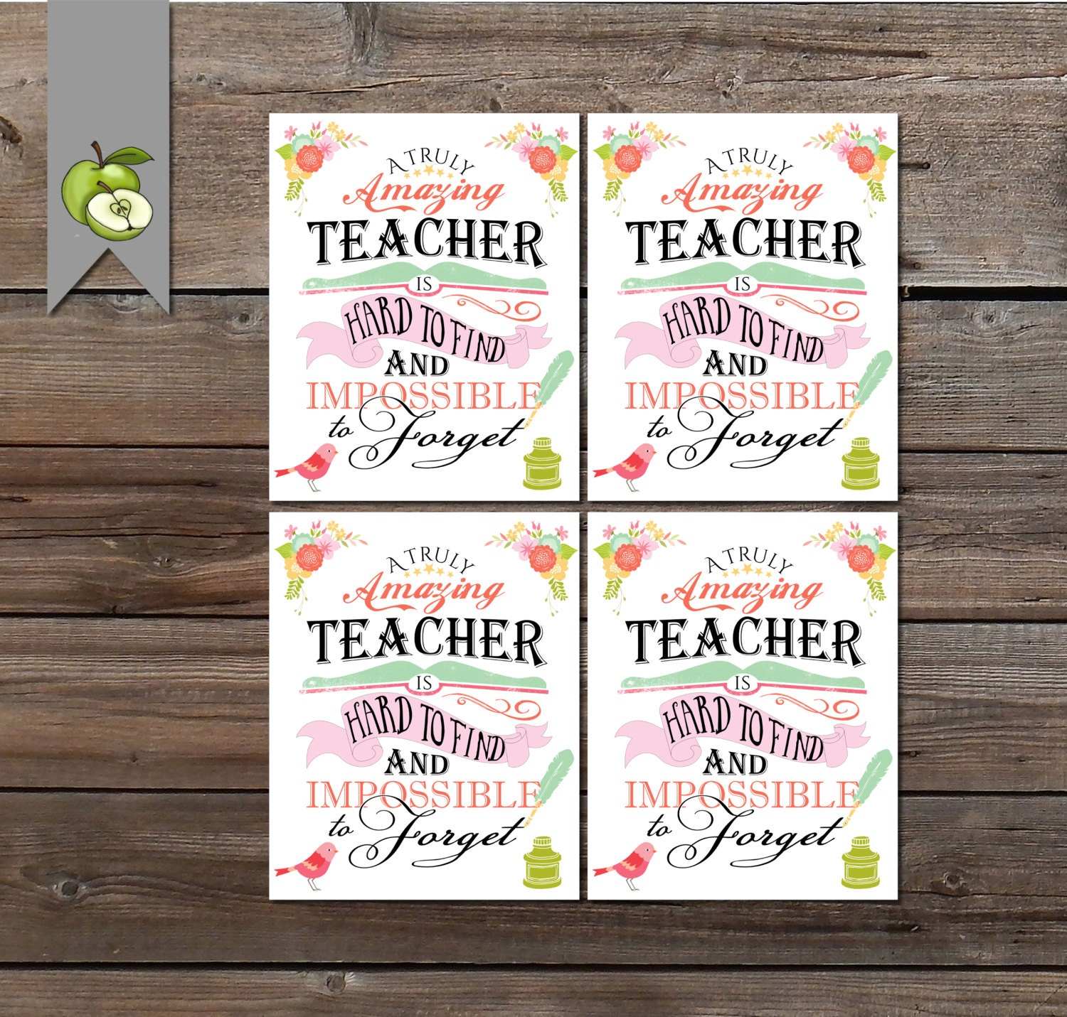Teacher Appreciation Gift Tag a truly amazing Teacher Gift