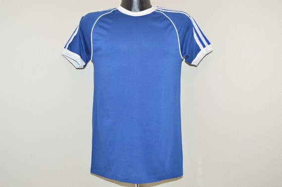 54629c40f2 50%OFF 70s Blue Stedman Striped Jersey Blank by thecaptainsvintage ...