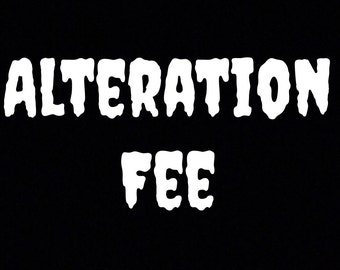 Alteration Fee