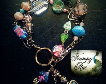 Reinette, Triple Strand Assemblage Beaded Bracelet
