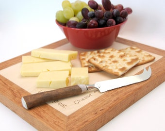 Personalised Cheeseboard with Cherry trim
