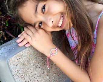Girls Friendship Bracelet Infinity Circle, Wish Bracelet, For Kids, Girls and Women, Adjustable, in 16 Colors