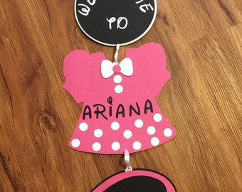 Minnie Mouse Door Sing, Minnie Mouse Theme Party Decor, Personalized Minnie Mouse Door Sign, Minnie Mouse Birthday, Minnie Mouse decoration
