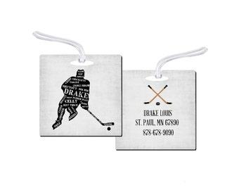 Sports Bag Tag, Hockey Bag Tag, Personalized Hockey Bag Tag, Personalized Sports Bag Tag, Hockey Bag Tag, Hockey Tag, Sports Bag Tag, RyElle