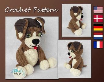 Crochet Pattern, Amigurumi Dog, Puppy, Stuffed Animal Crochet Pattern, CP-138