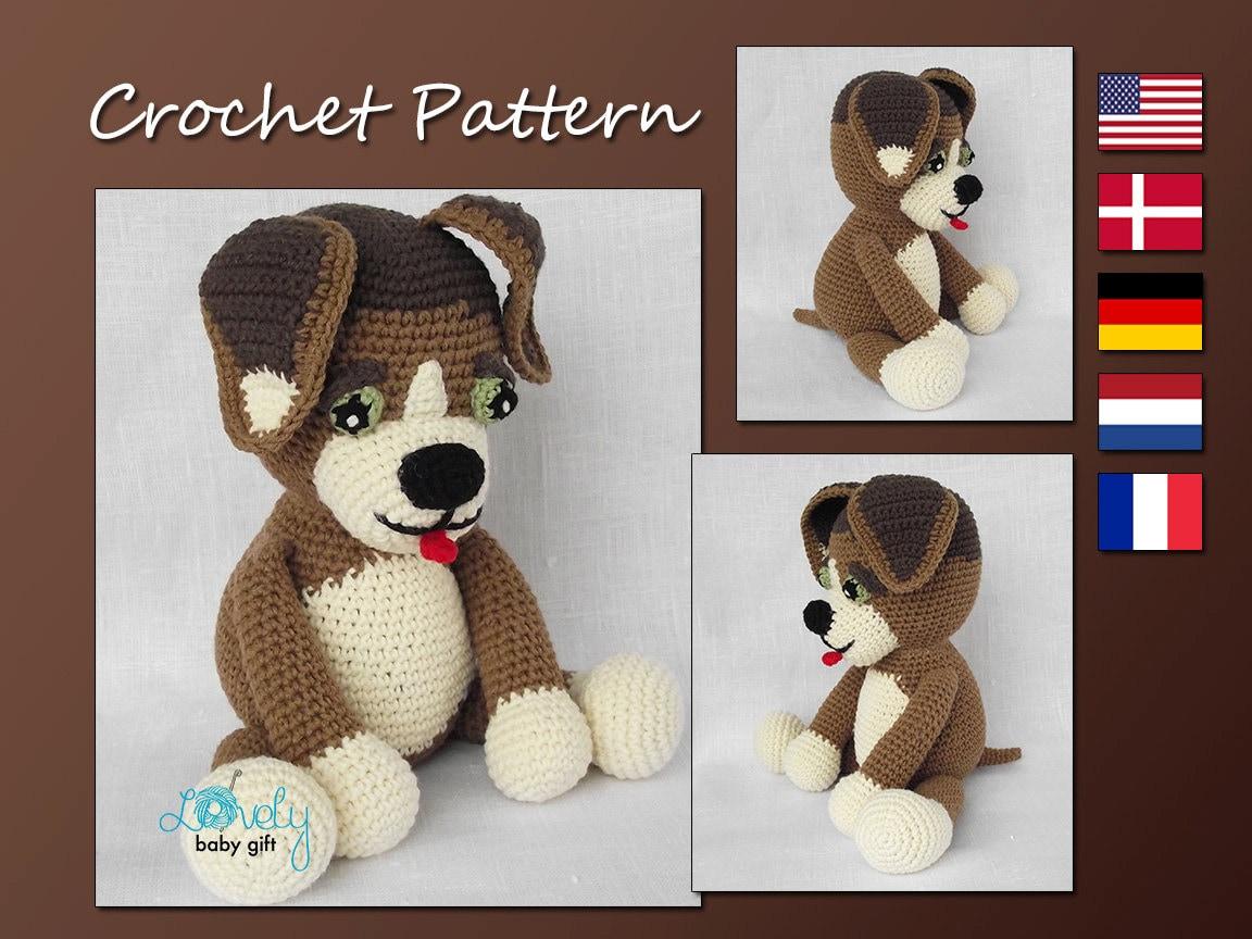 Free Pug Amigurumi Crochet Pattern : Crochet Pattern Amigurumi Dog Puppy Stuffed by LovelyBabyGift