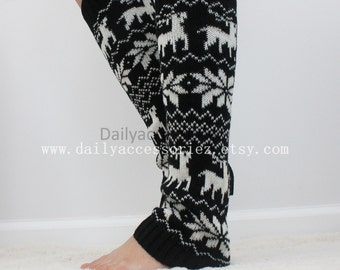 womens leg warmers, reindeer knit leg warmers, leg warmers adult, boot socks, for girls, for women, Christmas Gifts, for her, for mom