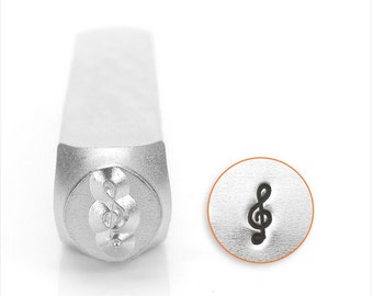 Treble Clef Design Stamp, 6mm SC1523-B-6mm , design metal stamp