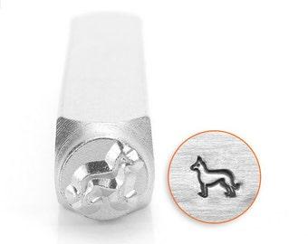 German Shepherd Metal Stamp, 6mm SC156-AF-6MM , dog metal design punch