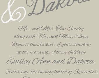 Digital Formal Wedding Invitation
