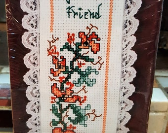 My MOTHER My FRIEND Cross Stitch Bookmark Kit - The New Berlin Co. #2183