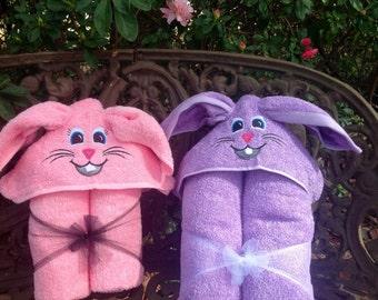3D Rabbit Hooded Towel/ 3D Bunny Hooded Towel/ Easter Bunny Hooded Towel/ Easter Hooded Towel/ Beach Towel/ Pool Towel/ Kids Hooded Towel