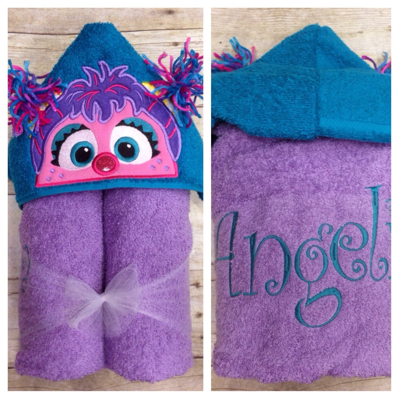 Abby Cadabby Hooded Towel Pink Monster Hooded Towel Sesame