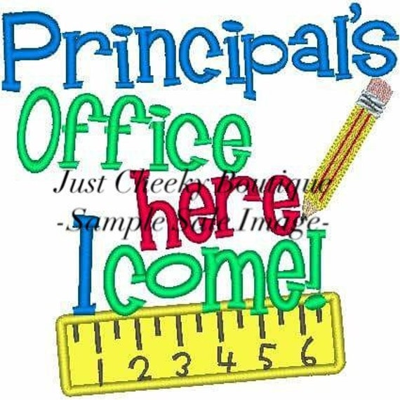 Principal's Office Here I Come Embroidered Girls Shirt - First Day of Preschool  - Back to School - Kindergarten - Pre-K