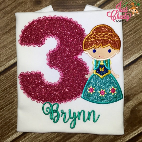 Frozen Fever Anna Cutie - Frozen Inspired - Queen Elsa - Embroidered Appliqued Shirt - Disney Vacation - Disney Birthday