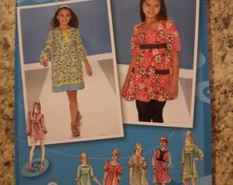 Simplicity 3546 Girls (Size AA 8,10,12,14,16)  dress or mini dress.  Project Runway