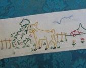 Vintage French embroidered napkin holder