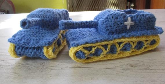 Crochet Tank Slippers Free Pattern