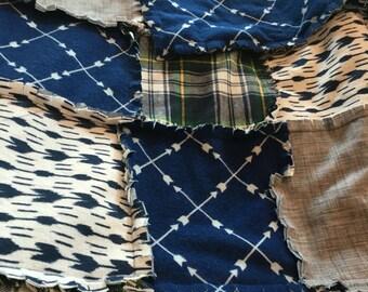 Navy Rag Blanket