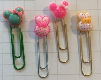 Spotted Mouse Ears Planner Pin, disney planner, mickey mouse planner clip, planner clips, planner, paper clip, mouse planner clips, disney