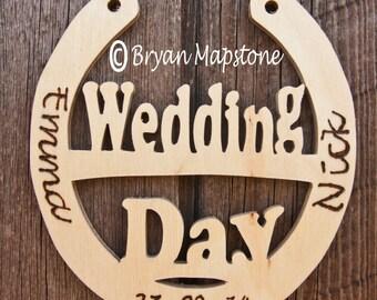 Wedding day horseshoe