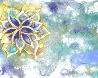 Serenity Lotus Floating Flower 5x7 mounted to 8x10 print