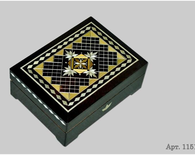 Jewelry box. Casket from Russia. Original gift. #С 1151-04. #89