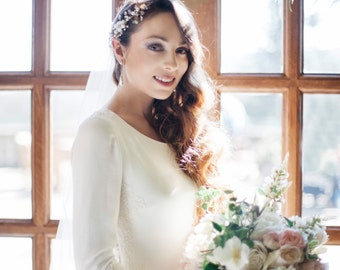Hair vine, brooch headpiece, bridal hair piece, hair jewellery | hair adorenment | swarorski crystal tiara