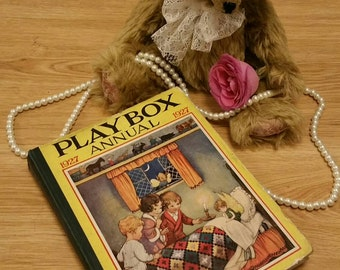 Vintage 1927 playbox childrens annual story book with illustrations.