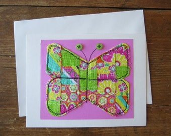 Quilted Butterfly Card, Special Occation, Mother's Day, Birthday