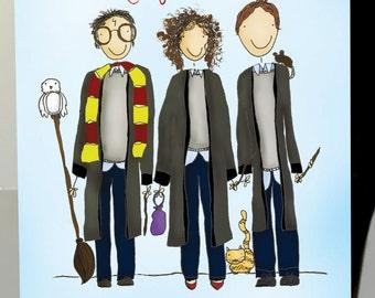 The Magic Trio | Harry Potter Illustration
