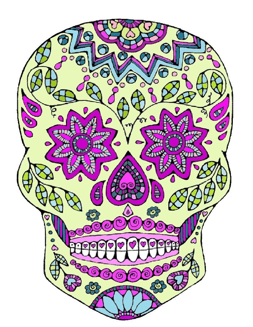 sugar skull coloring page coloring page colouring