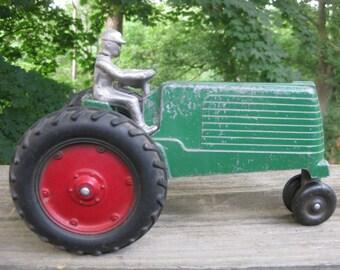 1940s Green SLIK Toy Tractor