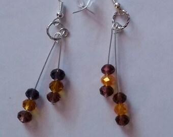 Sterling Silver wire dangle Earrings